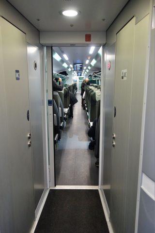 railjetの2等車のトイレ