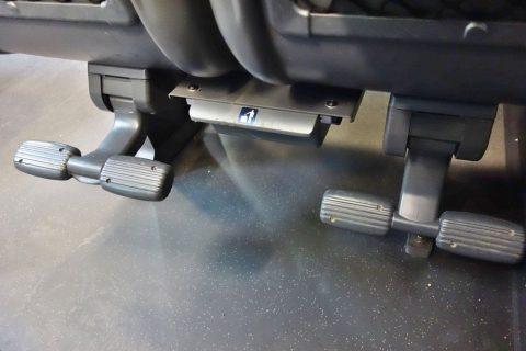 railjetの2等車の足置きとゴミ箱