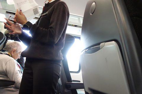 railjetの検札