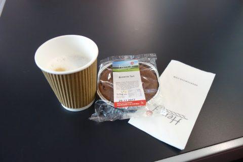 レイルジェットのレストランで注文したコーヒー