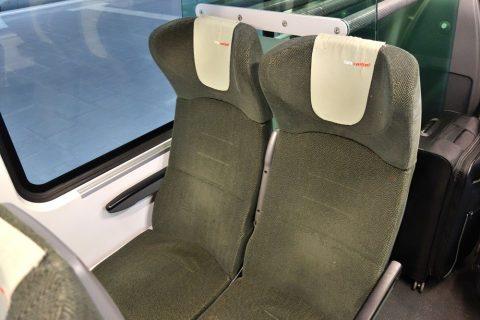 railjetの2等車シート