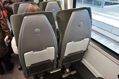 railjetのシートピッチ