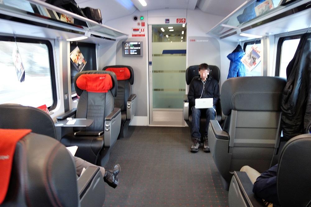 Journey To Obb Railjet Business Class Graz Vienna