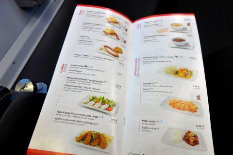 軽食メニュー/レイルジェットビジネスクラス
