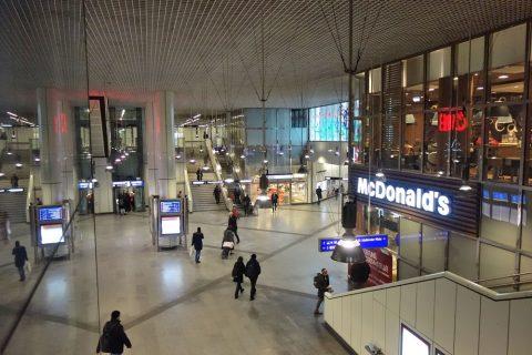 ウィーン中央駅地下コンコース