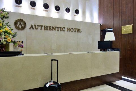 レセプションで請求/AUTHENTIC-HANOI-HOTEL
