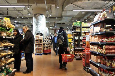 店内/ウィーン中央駅のスーパー