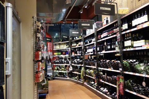 ワインの種類/ウィーン中央駅のスーパー