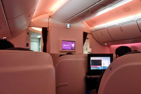 カタール航空ビジネスクラス空調