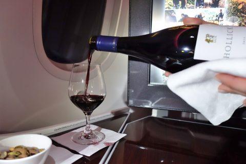 赤ワインHollick/カタール航空ビジネスクラス