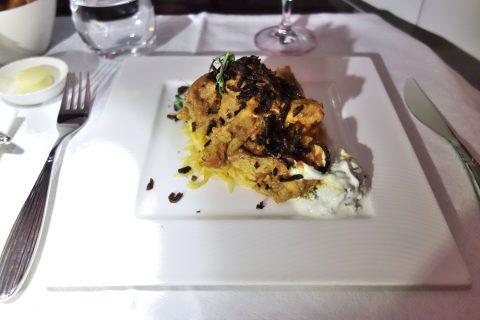 チキンビリヤニ/カタール航空ビジネスクラス機内食