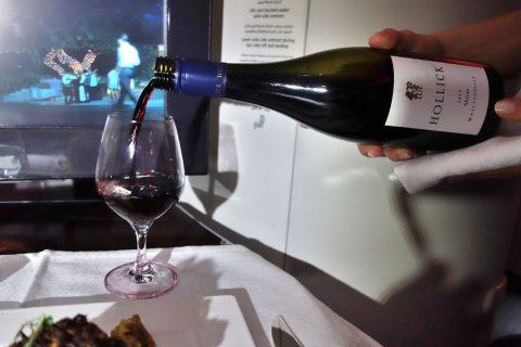 ワイン/qatar-airways-businessclass-wien-doha