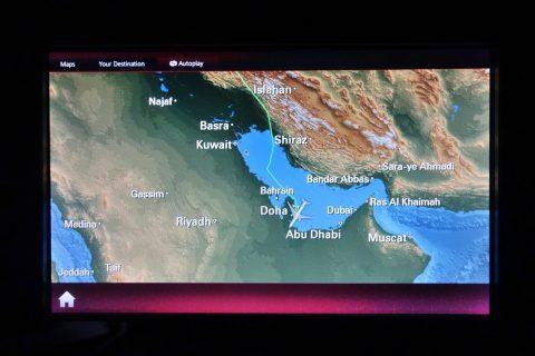 ドーハ到着/qatar-airways-businessclass-wien-doha