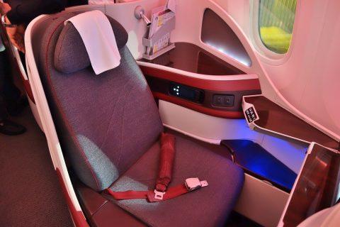 カタール航空ビジネスクラス787シート