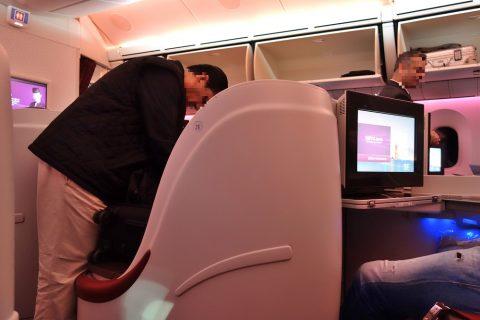 カタール航空ビジネスクラスの客層