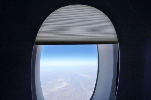 カタール航空の窓