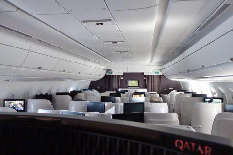 機内照明/カタール航空ビジネスクラス