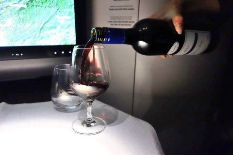 シラーズワイン/カタール航空ビジネスクラス