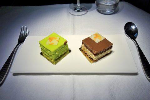 ピスタチオのケーキ/カタール航空ビジネスクラス
