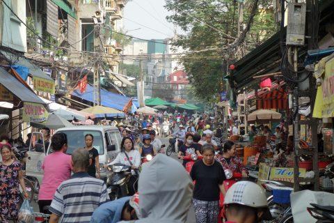 ハノイ旧市街の街並み