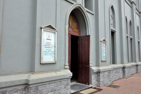 ハイフォン大聖堂入口