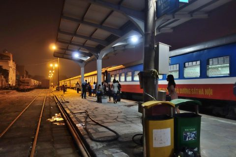 ハイフォン駅のプラットホーム