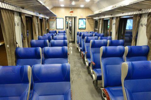 ベトナム鉄道のソフトシート