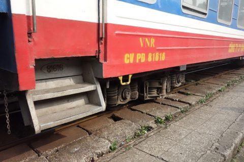 ベトナム鉄道のドアのハシゴ