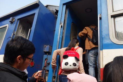 ベトナム鉄道に乗車