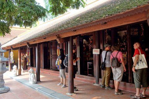 鎖国寺の本堂/ハノイ