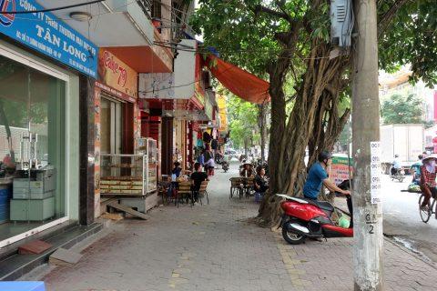 ハイフォン駅前の飲食店