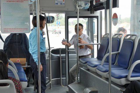 ハノイのバス定期券