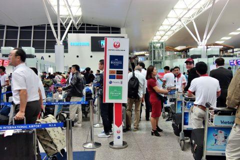 ハノイ空港JALプライオリティカウンター