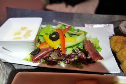 JAL朝食の前菜/ビジネスクラス