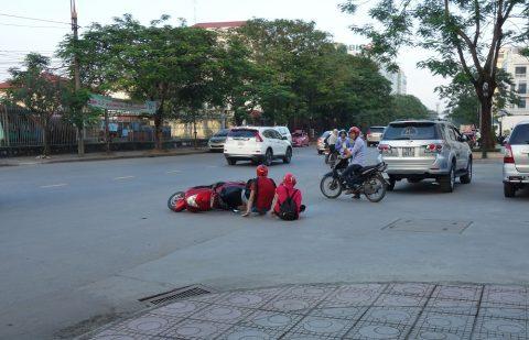 ベトナムでバイク事故