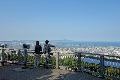 眉山からの景色