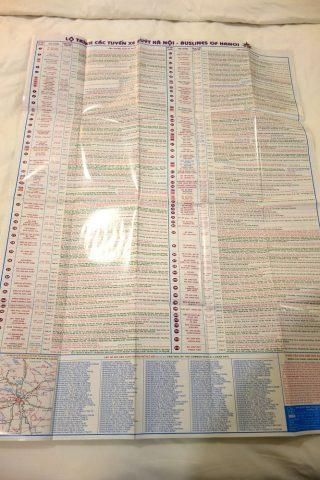 ハノイのバス路線図