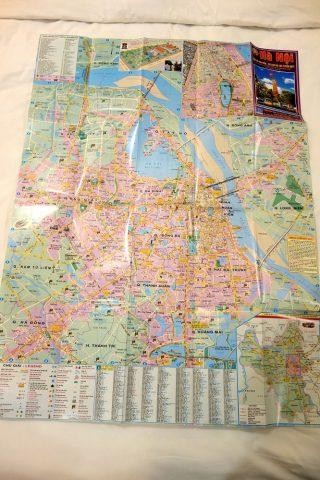 ハノイのバス路線マップ