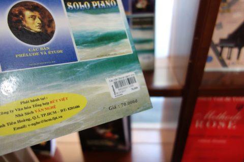 シューベルトの楽譜の値段/ベトナム
