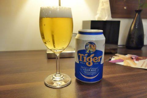 タイガービールを試飲