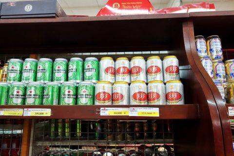 ハノイのビール333の価格