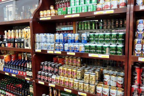 アルコールコーナー/ハノイのスーパー