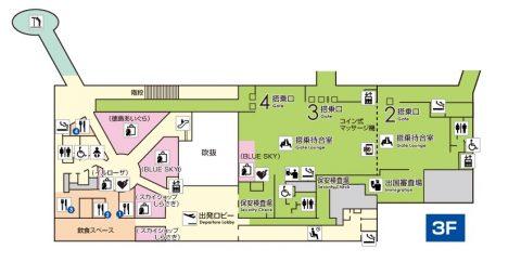 徳島空港3階MAP