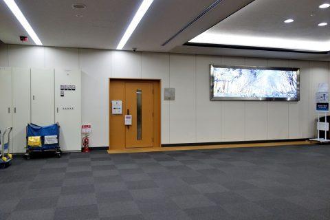 松山空港サクララウンジ入口