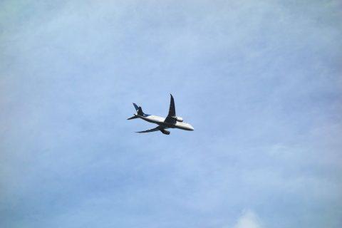 空の駅風和里しばやまから見る飛行機
