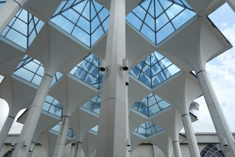 ブルーモスク回廊の屋根