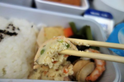 煮物/キャセイパシフィック航空機内食/成田発