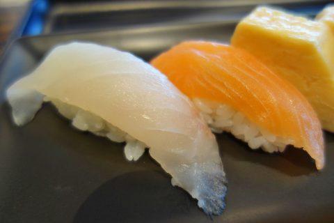 寿司のネタの質/JALファーストクラスラウンジ