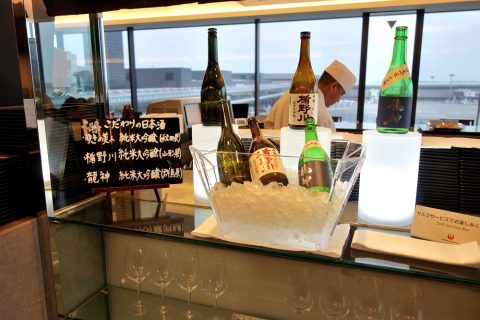日本酒/JALファーストクラスラウンジ