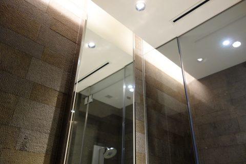 シャワールームの天井/jal-firstclass-lounge-narita